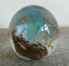 Isle of Wight Glass Paperweight IOW Glass Circa 1970