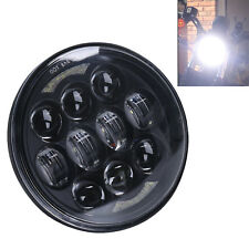 5-3/4'' 5.75'' 80W CREE LED Halo Headlight High Low Beam for Motorcycle 4800LM