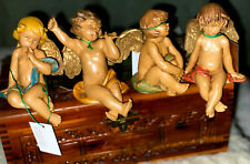 Set of 4 Fontanini Simonetti Sitting Angels (Cherubs) 1994 Made in Italy