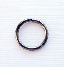 30 pcs Gun Black Open Jump Ring Connector 14x1.6 mm jewelry findings