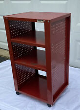 Vintage Pierce Ind. 4 Tier Rolling Industrial Cart Kitchen Utility Stand Red
