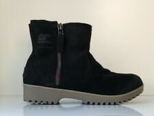 NEW! SOREL Meadow Zip Women's 9 Black Waterproof Oiled Suede Leather Winter Boot