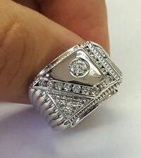 Mens 14k white gold signet ring size 10.75