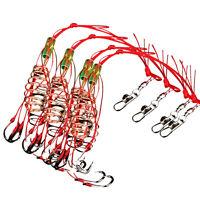4Pcs Durable Carbon Steel Fishing Explosion Hook Sharp Fishhook Tackle Tool Cool