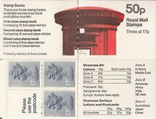 1985 QE2 50P DEFINITIVE FOLDED STAMP BOOKLET FB31 PILLAR BOX DESIGN PANE X909L