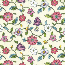 """Floral Printed 100% Cotton Sateen Fabric Vintage Chic Craft 70"""" Wide Per Metre"""