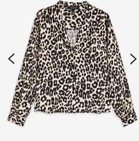Topshop PETITE Animal Print Shirtless size UK12 RRP£32 BOX30