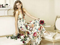 Forever New Rose Printed Maxi Dress - Size 6