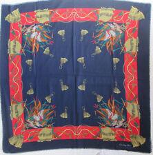 CHRISTIAN DIOR  Superbe Châle 120 x125  soie et laine   TBEG vintage Scarf