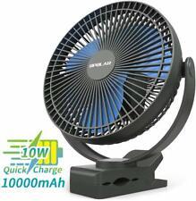 OPOLAR 10000mAh 8Inch Rechargeable Personal Clip on Fan,USB Portable Desk Fan