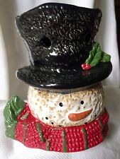 Yankee Candle Snowman Christmas Tart Wax Melt Tealight Warmer Burner Snowman
