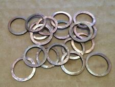 Qty 20 x COPPER WASHERS OD 17.8 mm ID 13.8 mm Thickness 0.8 mm Zenith 011648