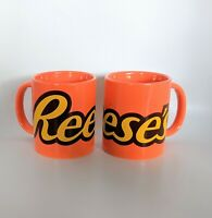 2 Reese's Peanut Butter Cups Coffee Cup Mug Orange By Galerie 10 oz