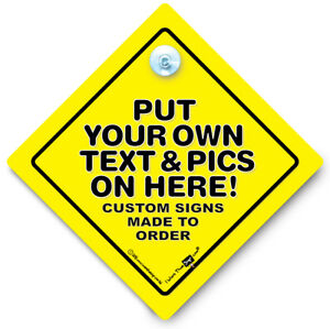Custom Car Sign, Made to Order, Custom Baby on Board Sign, Personalised Car Sign