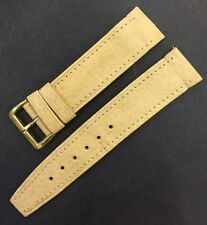Vintage 20mm GENUINE LEATHER WATCH STRAP,Pale Yellow Color, Old Stock Brand New