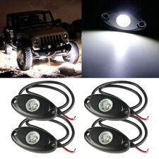 "4x 9W 2"" White CREE LED Rock Light Bar Wheel RV For Jeep Truck SUV Off-Road Boat"