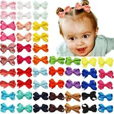 50Pcs 2Inch Baby Girls Hair Bows Grosgrain Ribbon Mini Bows with Alligator clips