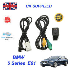 For BMW 5 61 USB Aux Switch & USB Wire 3.5mm AUX Cable Adapter 3CD 035 249 A