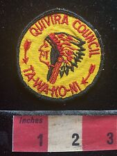 Vtg Boy Scout Quivera Council TA-WA-KO-NI Indian Head Wichita Kansas Patch 73MM