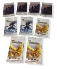 Argent Saga Betrayal Trading Card Game Booster Packs Lot 9 English Sealed NEW