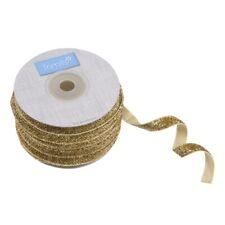 Glitter Velvet Ribbon - Gold