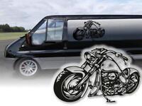 Motorrad Aufkleber Harley Anhängerwerbung Werbeaufkleber Autoaufkleber Anhänger