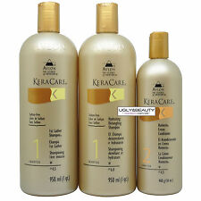 KeraCare 1st Lather & Hydrating Detangling Shampoos 1 qt. + Humecto 16 oz Set