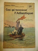 """Récit, collection Patrie: """"Ceux qui traversèrent l'Atlantique """" TOUDOUZE.1914-18"""