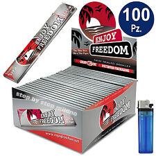 Cartine Lunghe SILVER Enjoy Freedom King Size 2 Confezioni 100 libretti