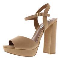 Steve Madden Womens Kierra Tan Dress Sandals Shoes 9 Medium (B,M) BHFO 9740