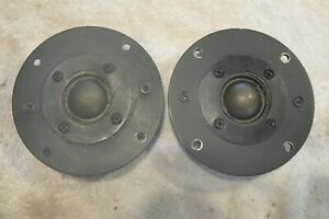Audax HD 100 D25 Tweeter Pair. Used ,Tested ,Working, 8 Ohms. Good Cond.For Age