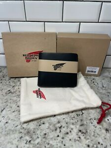 New! Red Wing Shoes Classic Bi-fold Leather Wallet. Black Frontier. Made In USA
