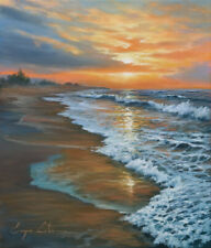 J. Litvinas Original Oil Painting 'COAST' 12 by 14 inches