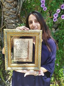 UNIQUE  RUSSIAN CHURCH CHANTING MANUSCRIPT ABOUT 500 YEARS OLD (NEW FRAME)