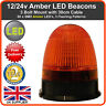 LED BEACON 3 Bolt 12/24v Recovery Flashing Warning Strobe Lights lightbar Amber