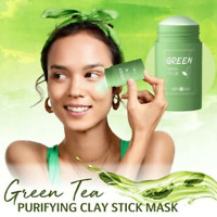 Green Tea Purifying Clay Stick M-ask Oil Control Anti-Acne Fine Eggplant Beauty