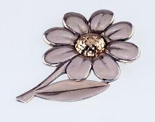 James Avery Two Tone Daisy Flower Brooch Sterling Silver & 14K