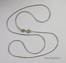 """925 Sterling Silver Fancy Snake Chain / Necklace - 17.5"""", 1mm, 3.5 Grams"""
