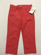 Miracle Body by Miraclesuit Coral Org Printed Jeans Ankle Pants Sz 8