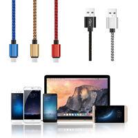 EG_ LK_ 3M USB 2.0 to USB 3.1 Type-C Fast Charging Sync Nylon Braid Data Cable C