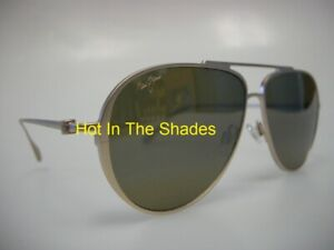 NEW MAUI JIM SHALLOWS SUNGLASSES H543-16A Satin Gold - HCL Bronze Lens