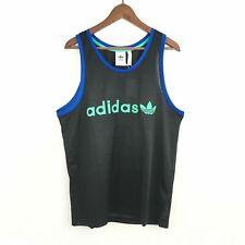 Adidas Originals Fk3220 Mens Sz L Black/Blue Br8 Mesh Retro Tank Top