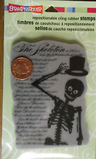 Stampendous! - CLING SKELETON POEM - Repositionable rubber stamp n- CRR153