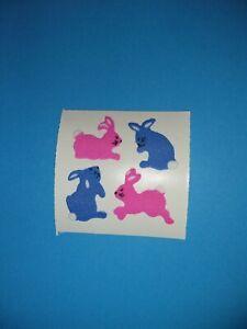 🦁💜Sandylion ein Abriss Hasen Fuzzy Stoff Scrapbooking Sticker 90er💜🦁