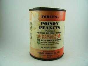 Vintage Carajon Force's Poison Peanuts For Moles & Pocket Gophers Advertising