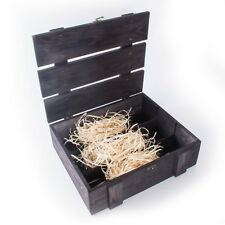 BLACK Wine 3 Bottle Presentation Box / Bottlebox / Gift Box / Storage Crate Case