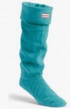 Hunter Original Tall Fleece Welly Boot Socks Turquoise Size L B0939