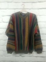 VTG Cotton Traders Mens Large Multi-Color Style Mens Sweater Biggie Cosby 90s