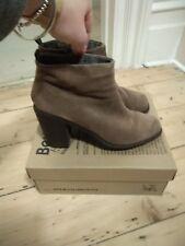 Bertie brown nubuck heeled boots size 38/5