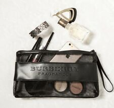 GWP Burberry Black Cosmetic Makeup Bag Pouch Wristlet Gift With Purchase